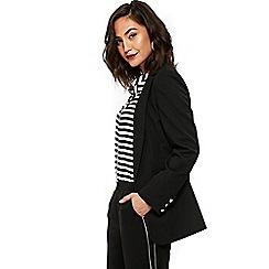 Wallis - Black longline zip pocket coat