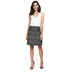 Wallis - Black texture skirt