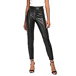 Wallis - Black leather look legging