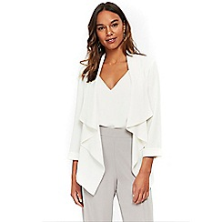 Wallis - Ivory waterfall jacket