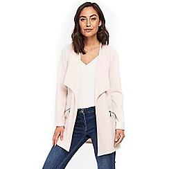 Wallis - Blush envelope collar longline jacket