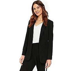 Wallis - Black ribbed buttoned blazer