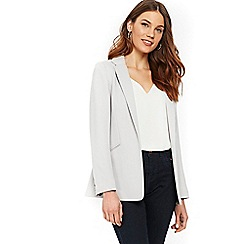 Wallis - Grey ribbed buttoned jacket