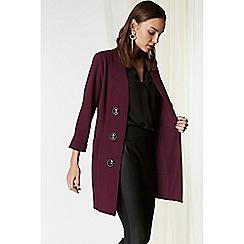 Wallis - Berry button front blazer jacket