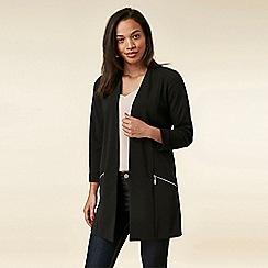 Wallis - Black Zip Scuba Jacket