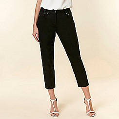 Wallis - Black Cropped Trousers