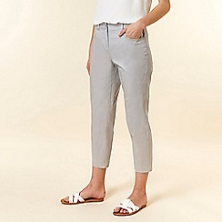 Wallis - Grey Cropped Trousers