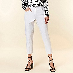 Wallis - White Cropped Trousers