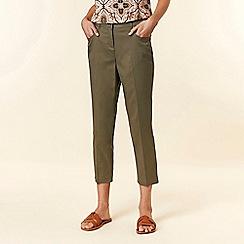 Wallis - Khaki Cropped Trousers