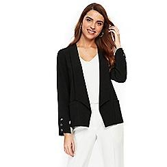 Wallis - Black button sleeve jacket