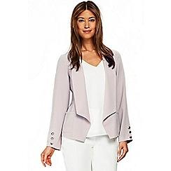 Wallis - Grey button sleeve blazer
