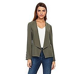 Wallis - Khaki button sleeve duster jacket