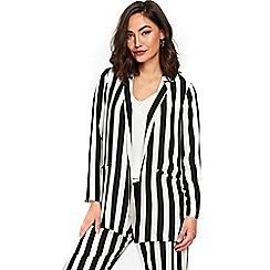 Wallis - Monochrome striped blazer