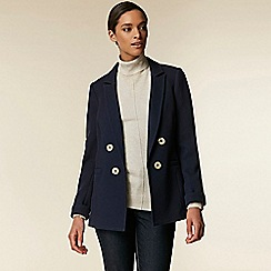 Wallis - Navy tailored button blazer