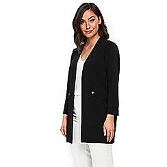 Wallis - Black popper pocket jacket
