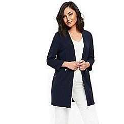 Wallis - Navy popper pocket jacket