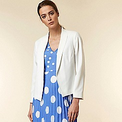 Wallis - Ivory Crepe Shawl Collar Jacket
