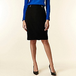 Wallis - Black fitted pencil skirt