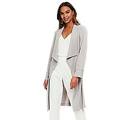 Wallis - Grey waterfall duster jacket