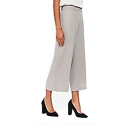 Wallis - Grey wide leg cropped trousers