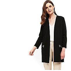Wallis - Black stud pocket longline jacket