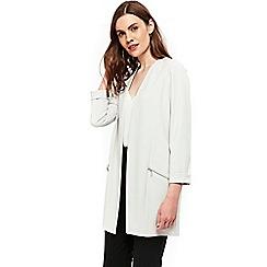 Wallis - Grey stud pocket longline jacket