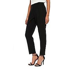 Wallis - Black tapered leg trousers