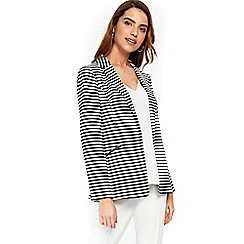 Wallis - Stripe 3 ponte button ribbed jacket
