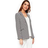 Wallis - Stripe 3 ponte button ribbed jacket