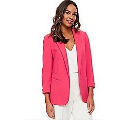 Wallis - Pink ribbed blazer
