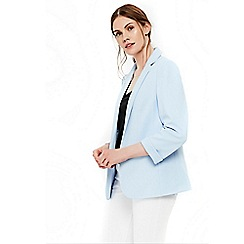 Wallis - Light blue ribbed blazer