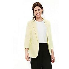 Wallis - Lemon ribbed blazer