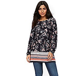 Wallis - Pretty floral border tunic top