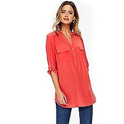 Wallis - Orange longline shirt