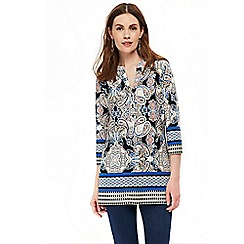 Wallis - Blue paisley shirt top