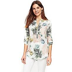 Wallis - Palm print burnout shirt