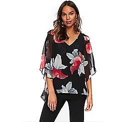 Wallis - Black orchid overlayer top