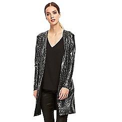 Wallis - Silver longline jacket