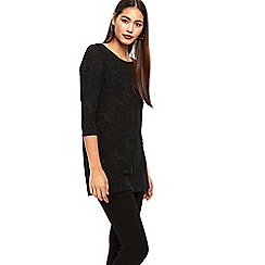 wallis black sparkle tunic