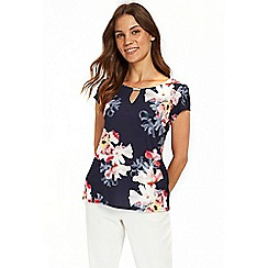 Wallis - Rouge summer floral shell top