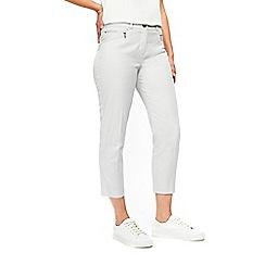 Wallis - Grey zip pocket cropped trousers