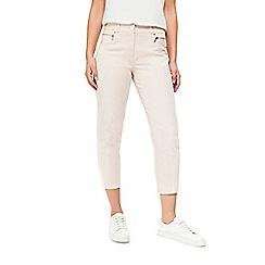 Wallis - Pink zip pocket crop trousers