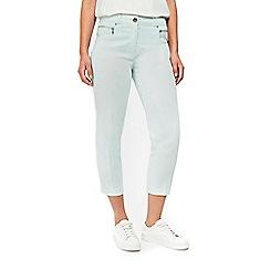 Wallis - Mint zip pocket cropped trousers