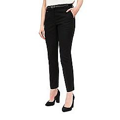 Wallis - Black belted cigarette trouser