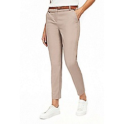 Wallis - Stone belted cigarette trousers
