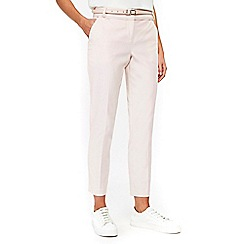 Wallis - Blush belted cigarette trouser