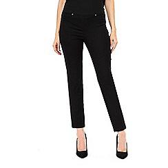 Wallis - Black elasticated waist trousers