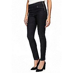 Wallis - Indigo demi side zip jeans