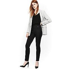 Wallis - Black side zip trousers