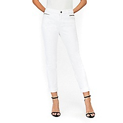 Wallis - White scarlet roll up jeans